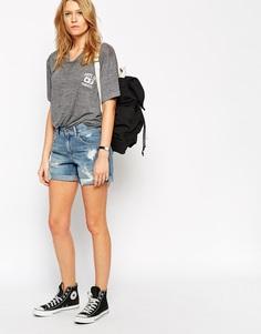 Рваные джинсовые шорты бойфренда ASOS - Myth midwash