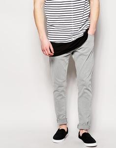 Серые джинсы скинни Edwin ED85 - Светло-серый