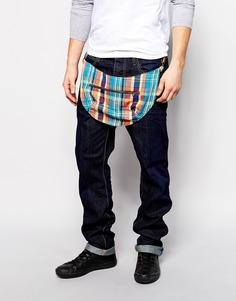 Суженные книзу джинсы ограниченной серии с заниженным шаговым швом и 3D-складками Vivienne Westwood Anglomania Africa эксклюзивно для ASOS - Синий