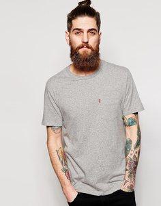 Серая меланжевая футболка с карманом Levi's Sunset - Умеренный серый вереск Levi's®