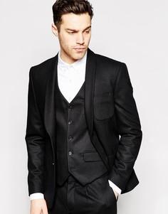 Узкий шерстяной пиджак Peter Werth Premium - Черный