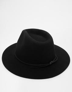 Мягкая фетровая шляпа Brixton Wesley - Черный