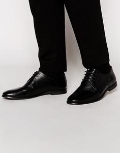 Кожаные туфли дерби ASOS - Черный