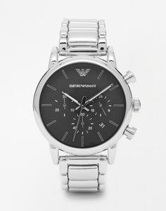 Часы-хронограф из нержавеющей стали Emporio Armani AR1853 - Серебряный