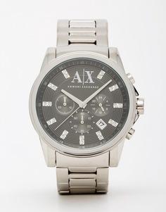 Часы с браслетом из нержавеющей стали Armani Exchange AX2092 - Серебряный