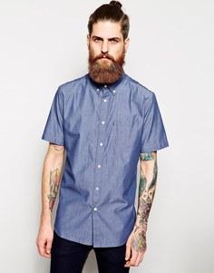 Рубашка из шамбре с коротким рукавом Element - Темный деним