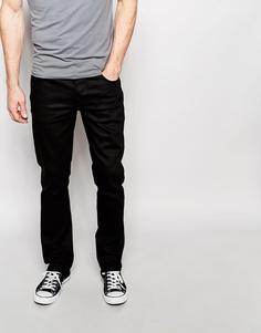 Черные джинсы слим Nudie Jeans Grim Tim Black Ring - Черное кольцо
