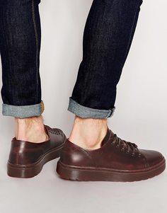 Ботинки с 6 парами люверсов Dr Martens - Красный