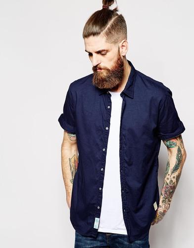 Рубашка с короткими рукавами Scotch & Soda - Темно-синий