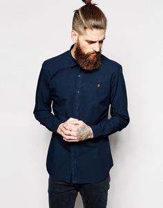 Поплиновая рубашка приталенного кроя Farah - Темно-синий