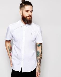 Поплиновая рубашка приталенного кроя с короткими рукавами Farah - Белый