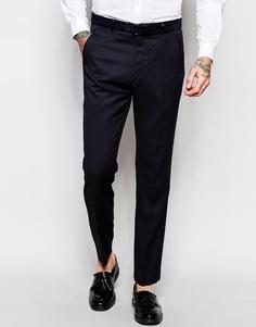 Креповые брюки слим ASOS - Темно-синий