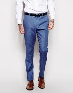 Синие брюки скинни ASOS - Синий