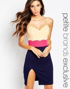 Платье-футляр с вырезом сердечком Paper Dolls Petite - Темно-синий