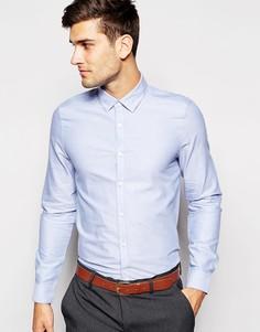 Синяя строгая рубашка-оксфорд с длинными рукавами ASOS - Синий