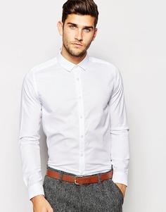 Строгая белая рубашка-оксфорд с длинными рукавами ASOS - Белый
