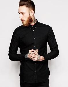 Оксфордская рубашка Dr Denim - Черный
