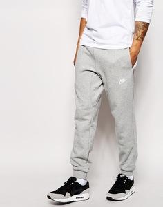Спортивные штаны с манжетами Nike AW77 - Серый меланж