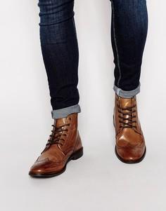 Кожаные ботинки-броги ASOS - Рыжий