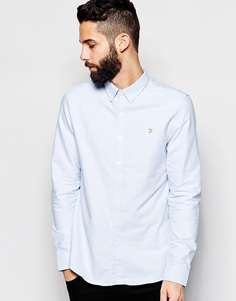 Оксфордская рубашка узкого кроя Farah - Небесно-голубой