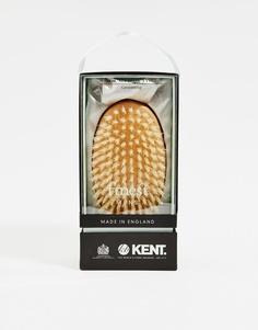 Овальная щетка для волос Kent - Коричневый