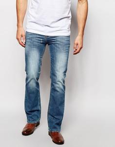 Синие джинсы с легким клешем ASOS - Умеренный синий