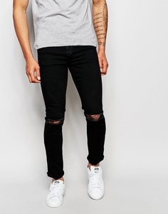 Черные потертые джинсы скинни Dr Denim Snap - Черный
