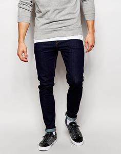 Синие ультразауженные джинсы скинни ASOS - Indigo - индиго