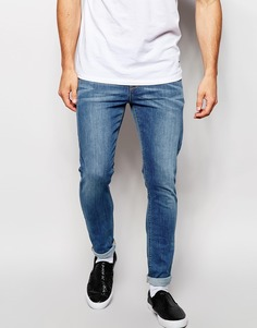 Голубые супероблегающие джинсы скинни ASOS - Синий
