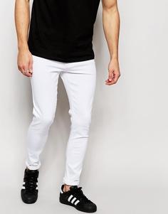 Белые супероблегающие джинсы Brooklyn Supply Co - Белый