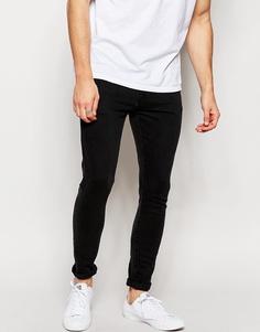 Черные супероблегающие джинсы Brooklyn Supply Co - Выбеленный черный