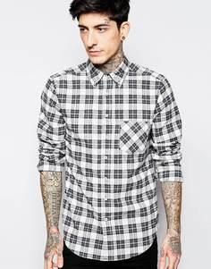 Рубашка в клеточку Brooklyn Supply Co - 1438 серый