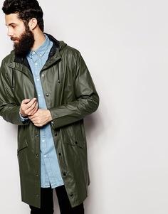 Длинная куртка Rains - Зеленый