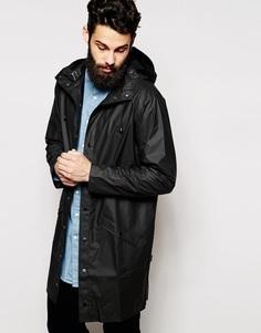 Длинная куртка Rains - Черный