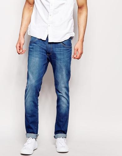 Облегающие джинсы Wrangler Bryson - Blue bream (синий)