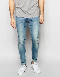 Супероблегающие джинсы ASOS - Светло-голубой