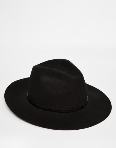 Широкополая шляпа-федора Catarzi - Черный