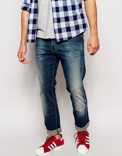 Синие джинсы слим Wrangler Spencer - Blue wader