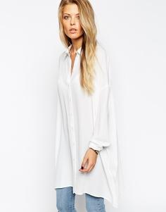 Длинная оversize-блузка ASOS - Кремовый