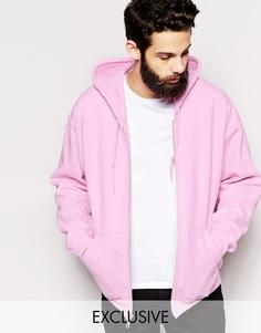 Худи на молнии Reclaimed Vintage - Розовый