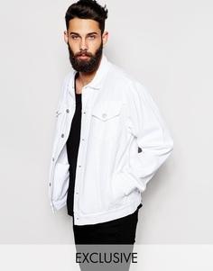 Джинсовая оversize-куртка Reclaimed Vintage - Белый