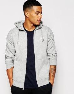 Худи на молнии с логотипом-галочкой Nike - Серый