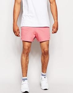 Очень короткие трикотажные шорты ASOS - Розовый