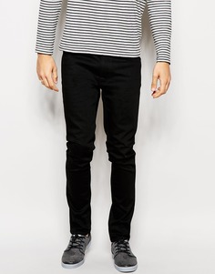 Черные суженные книзу джинсы слим Nudie Jeans Lean Dean - Dry cold black