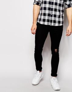 Рваные супероблегающие джинсы Antioch - Черный
