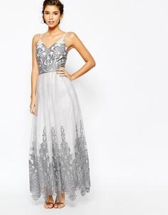 Премиум-платье макси для выпускного с кружевом Chi Chi London