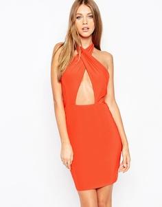 Облегающее платье с бретелькой-петлей Missguided - Ярко-оранжевый