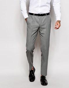Зауженные брюки в клеточку Noose & Monkey - Серый