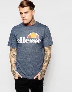 Футболка с классическим логотипом Ellesse - Синий меланж