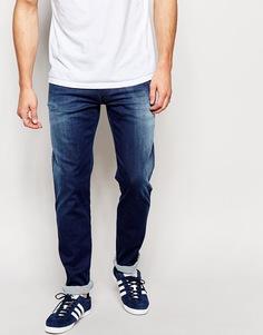 Суперстретчевые выбеленные джинсы слим Replay Hyperflex Anbass - Синий
